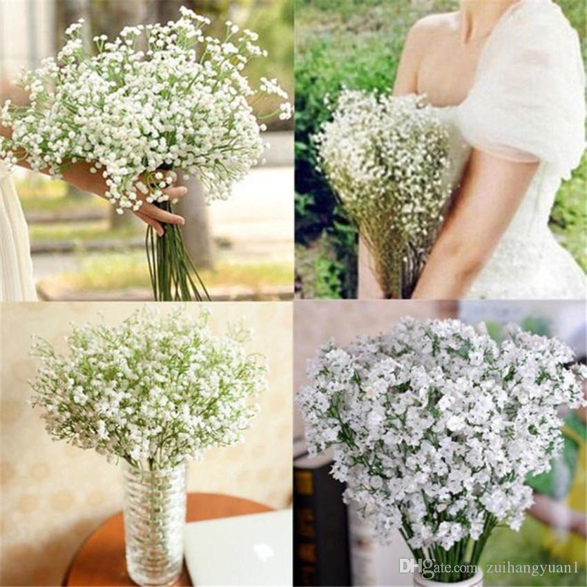 Babies Breath Artificial Flowers Fake Gypsophila DIY Floral Bouquets Arrangement Wedding Home Garden Party Decoration