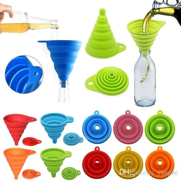 Tragbarer Silikon-Klapptrichter Mini-Öl-Dispens-Trichter-Küchenkochwerkzeuge Liefert ZGA2801