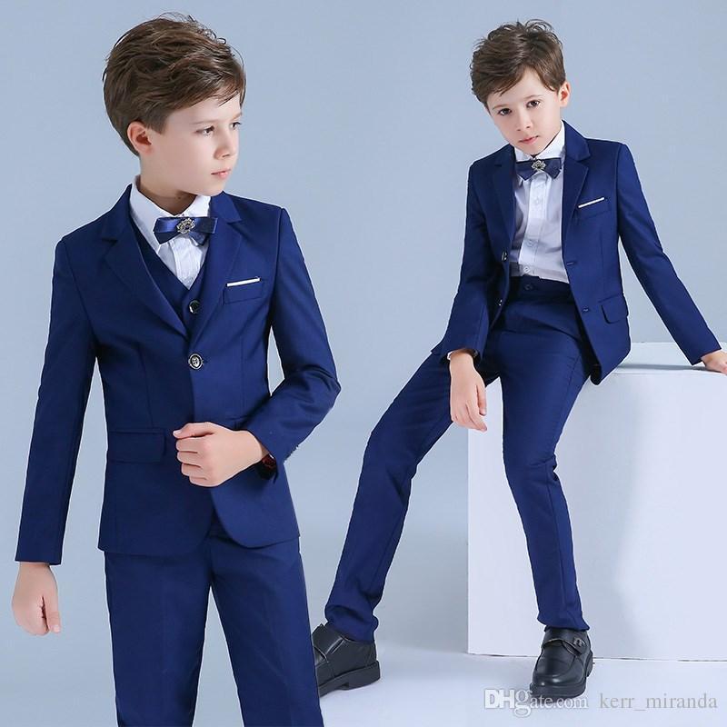 2020 Erkekler Suits Smokin İçin Düğünler Erkek Çocuk Biçimsel Durum Küçük Erkekler Çocuk Çocuk Düğün Erkek Çocuk Biçimsel Wear Takımları
