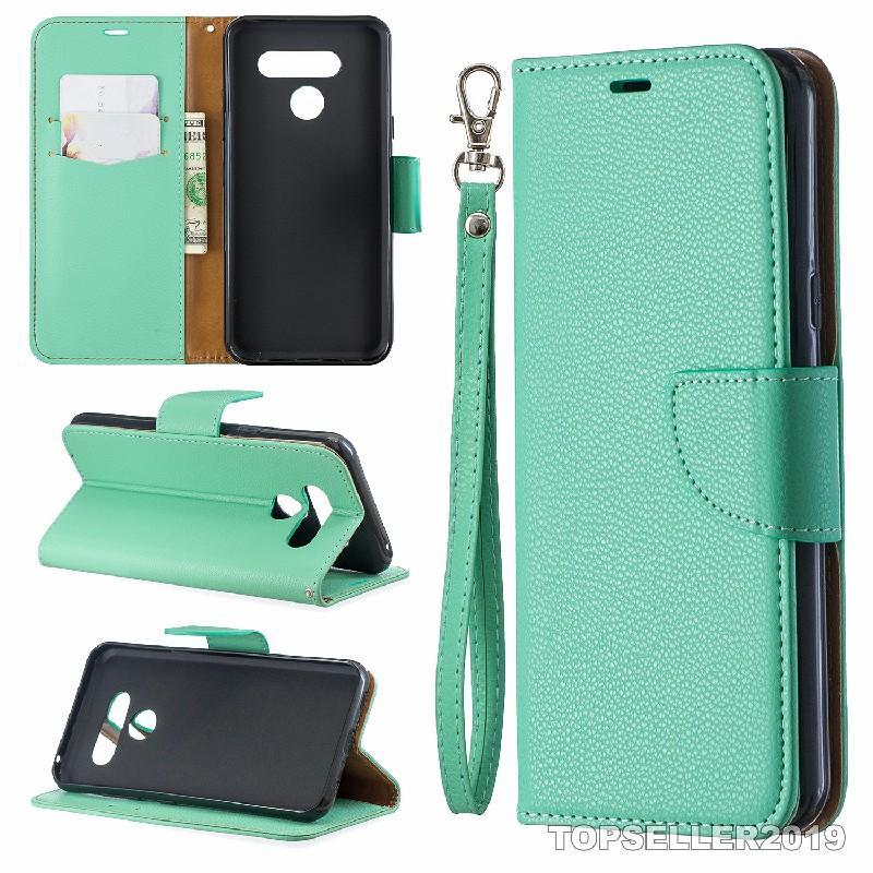 Pour LG K50 Q60 Design de Stands Porte-monnaie en cuir style Solid Designer Couleur gaufrée Case Téléphone Housse avec le téléphone de cas et détenteur de la carte B249