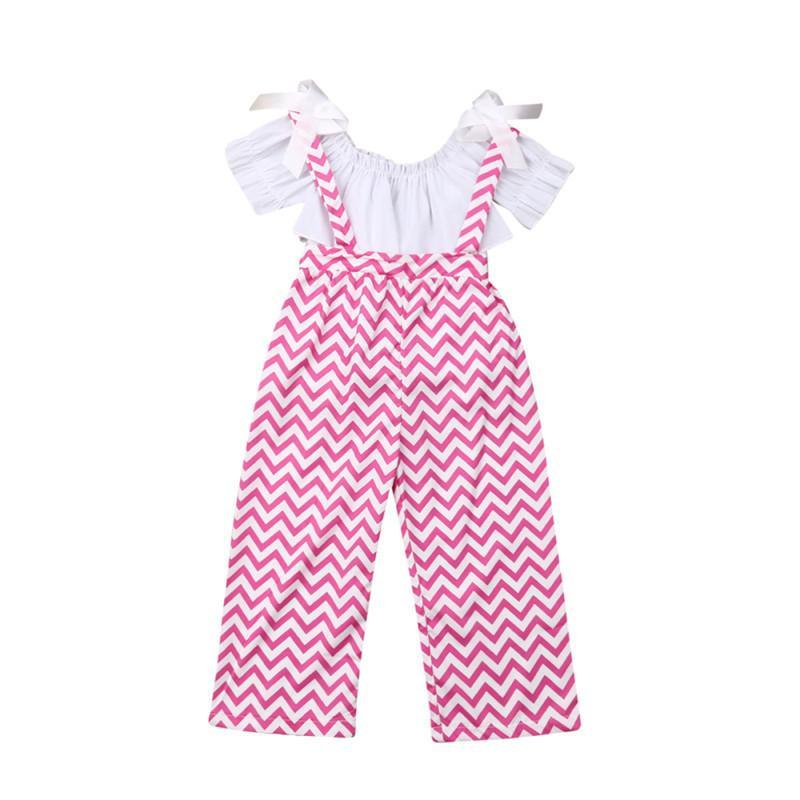 1-5T дети Baby Girl одежда лето рябить топы+длинные брюки комбинезоны 2шт наряды наборы розовый мягкий дышащий высокое качество костюмы
