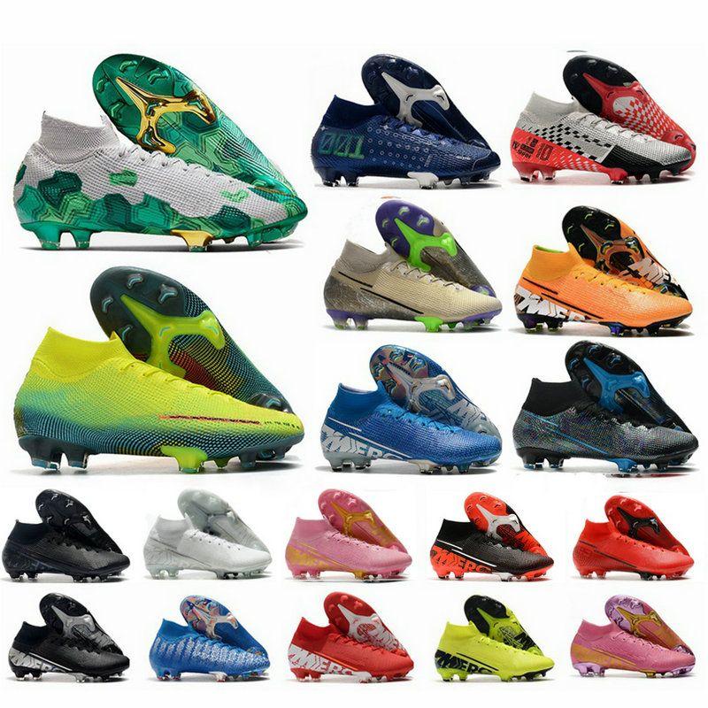 2020 Mens Mercurial Superfly VII 7 Elite maglia 360 FG CR7 Ronaldo Mbappe Bondy sogno di velocità 001 002 scarpe da calcio Scarpe da calcio morsetti