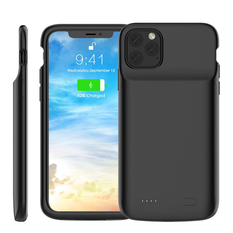 External Power Bank Charger Case 4500 mAh Portable Phone Backup Battery Case Backshell for iphone 11 pro max XR 7 8 P wireless charge case