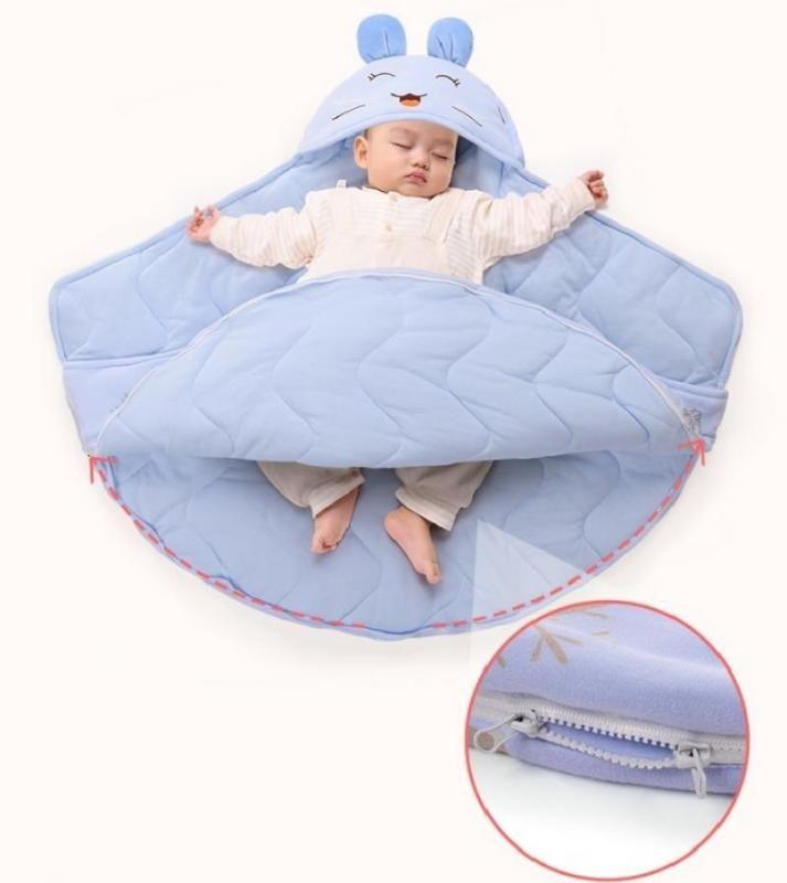 Sobres bebé recién nacido caliente del invierno del saco de dormir Saco de dormir purificado cochecitos cochecitos manta cama Envolver Anti-sobresalto de algodón
