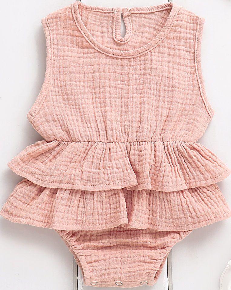 أزياء عارضة ضئيلة الصلبة الوليد كيد طفلة ملابس أكمام المايوه بحر توت توتو 0-2Y جميل