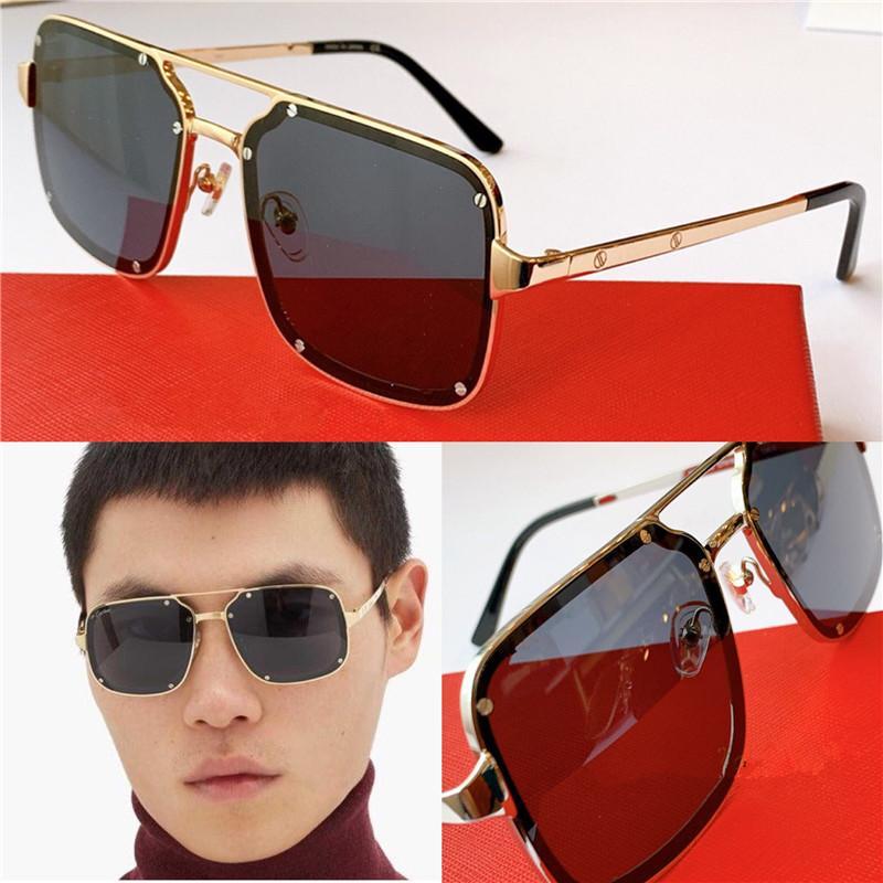 новые 0194 модные дизайнерские солнцезащитные очки квадратная рамка простые мужские деловые очки специальные металлические очки uv400 защита 0194S высокое качество