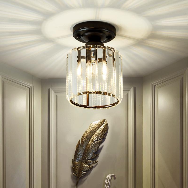 Moderna Soffitto LED Square / lampada rotonda di cristallo Paralume luminaria per balcone disimpegno camera da letto illuminazione del corridoio
