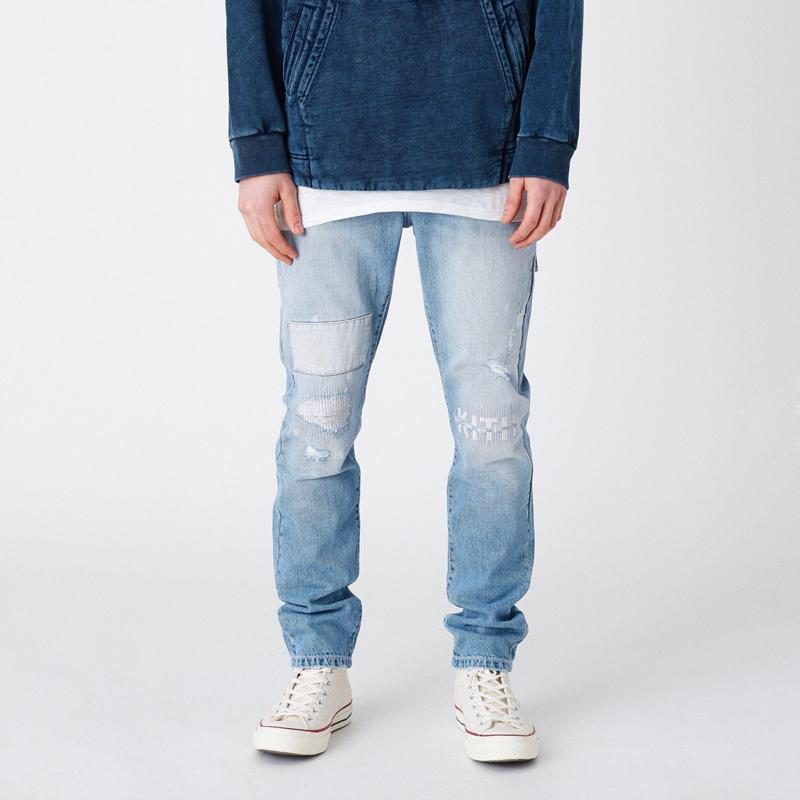 19SS Calle VARICK CARTA bordado DENIM jeans rectos hombres mujeres pareja de moda los pantalones flojos de los pantalones vaqueros ocasionales HFLSKZ129