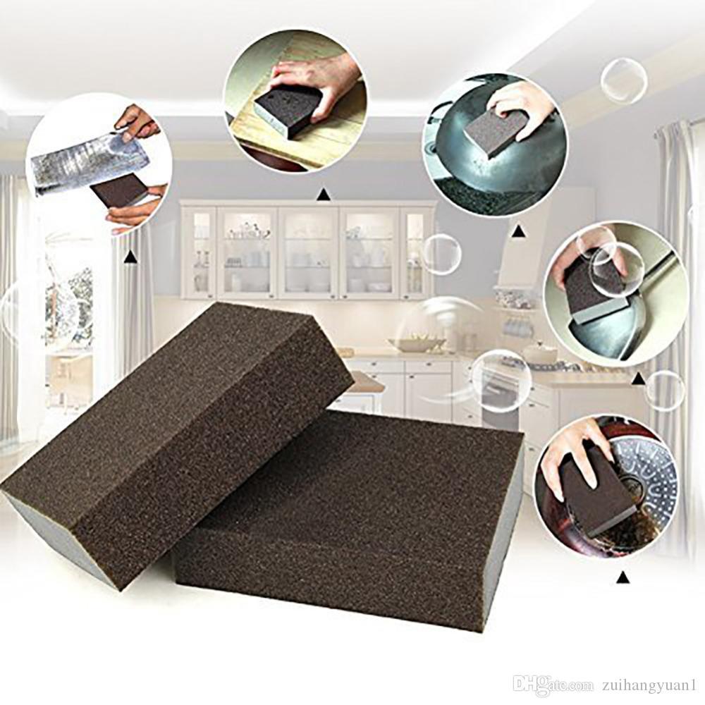 Carborundum Magia Sponge Escova de cozinha da limpeza Lavagem Cleaner Tool for escovado bacia inoxidável Kitchen Gadgets Hot Selling