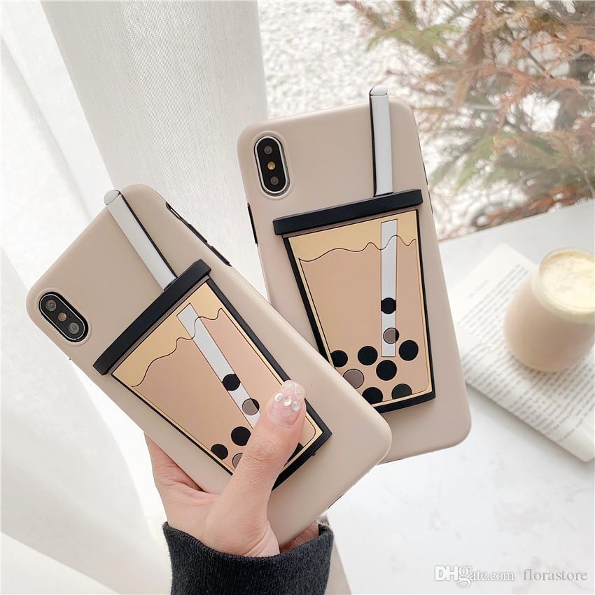 Desenhos animados bonitos 3d telefone casos alimento silicone soft capa shell para iphone 7 8plus xr x max 11 pro