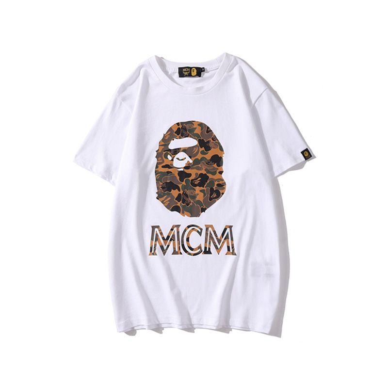 Nouveau Printemps Eté Cartoon Hommes Imprimer Camo T-shirts personnalisés à manches courtes Casual Amant Hip Hop desserrées T-shirts