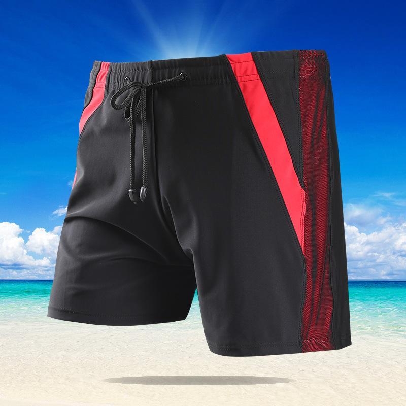 Calças de natação dos homens novos de alto grau sistema de código grande com costura cintura-código e fertilizante calças de praia de ângulo plano pode ser atacado