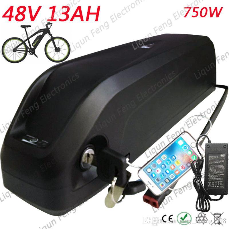 무료 배송 Bafang 8fun BBS02 BBSHD 중반 모터 전원 상어 돌고래 다운 튜브 배터리 48 볼트 13ah 지방 자전거 산악 자전거 도로 자전거.