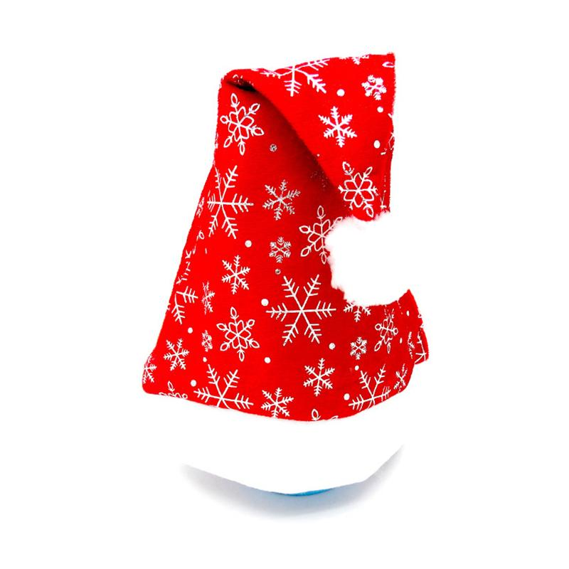 Heiße Verkaufs-Qualität des neuen Jahres Weihnachtsfeiertag Weihnachtsmütze Hut für Weihnachtsmann Geschenke kurze Plüsch-Weihnachtsmützen Kostenloser Versand