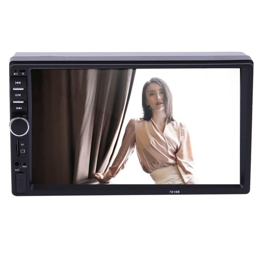 7inch 2 DIN In Dash LCD HD Bluetooth Touch Screen Car Stereo Radio MP5 Player AUX with LED/LCD Colorful Display Remote Control
