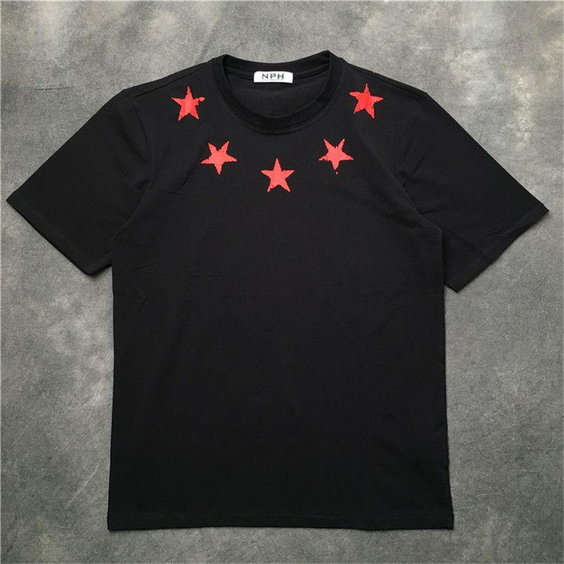 Mens T Shirt rotto Stampa T Shirt Pentagram cinque punte della stella maniche corte maglietta casual Camiseta SUPERA IL T