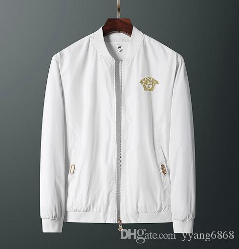Versace respirável transporte livre jaqueta confortável jaqueta casual fina jaqueta de novos homens da moda M2000