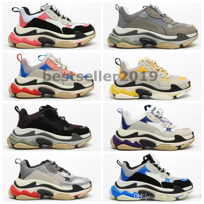 Triple S 17FW paires des nouveaux hommes 2020 Designer Sneakers Six couche plate-forme Femmes Tripler Chaussures Casual Baskets Scarpe Zapatos Paniers
