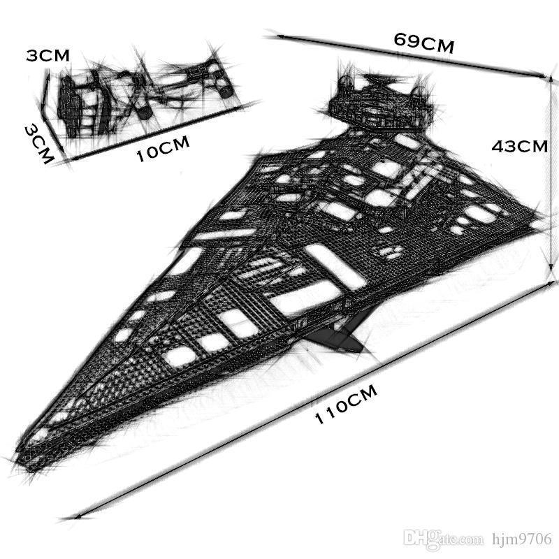 EN STOCK Remise du Millénaire pour Imperial IV navire 5278Pcs plan Building Block Étoile Brique 81098 75252 Compatible avec Noël Jouets cadeau