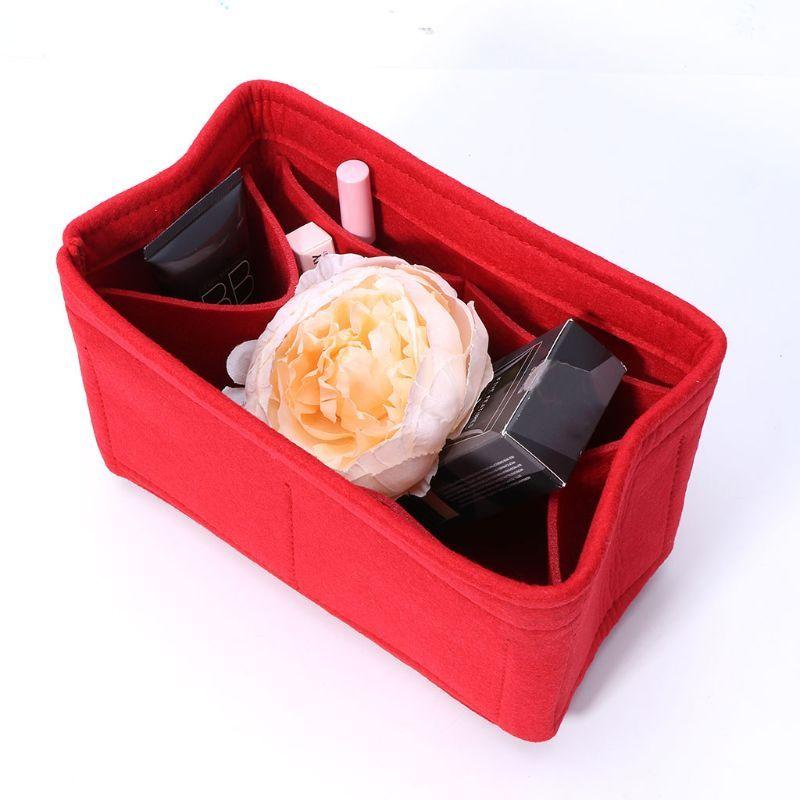 Inserção de armazenamento Mulheres sentidas Nova S / M / L Maquiagem Cosméticos Sacos Internos Bolsa Bolsa Portátil Viagem Multifuncional Organizador Multifuncional Sacola UCDDQ