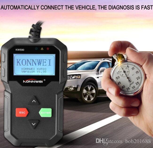 KONNWEI KW590 OBDII OBD Scanner Scanner Diagnostico Auto Motore Guasto Code Reader Rivelatore Multi Lingua Scanner Automobilistico Auto Vehicle Scan