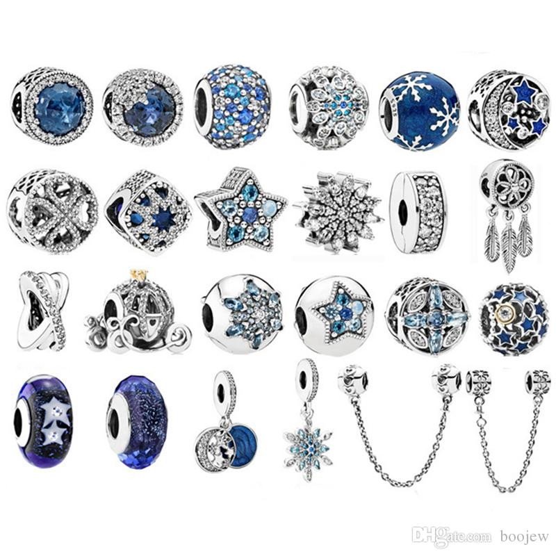 perles pandora bleu