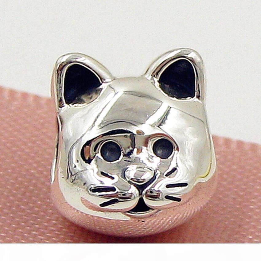 2015 New Outono 100% de prata 925 Curious Cat Bead charme único europeu Pandora colar de jóias Pulseiras