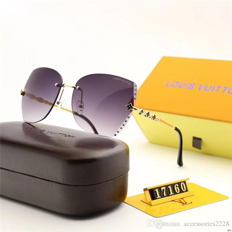 2020 neue Marke von randlos Frauen Sonnenbrille UV400 Schutzsportförderung heißer Sonnenbrille Sonnenbrille Freizeit Luxus