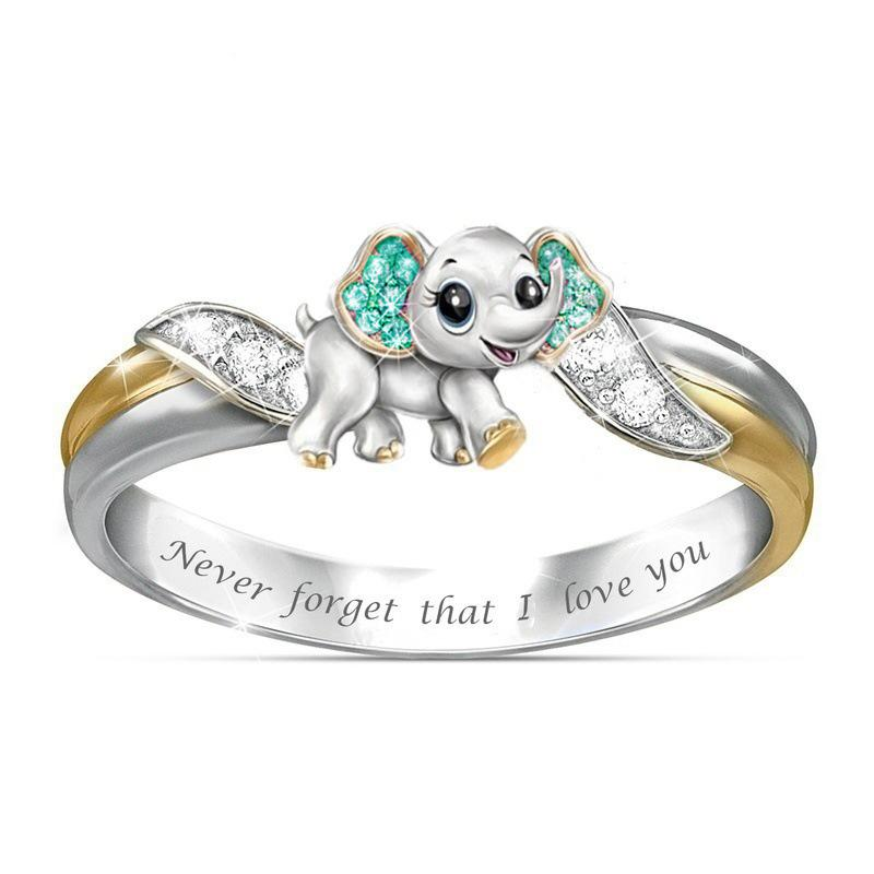2020 New Style mai dimenticare che I Love You Two Tone anello della fascia per l'impegno da festa di nozze placcatura cristallo Tutta la vendita della fabbrica