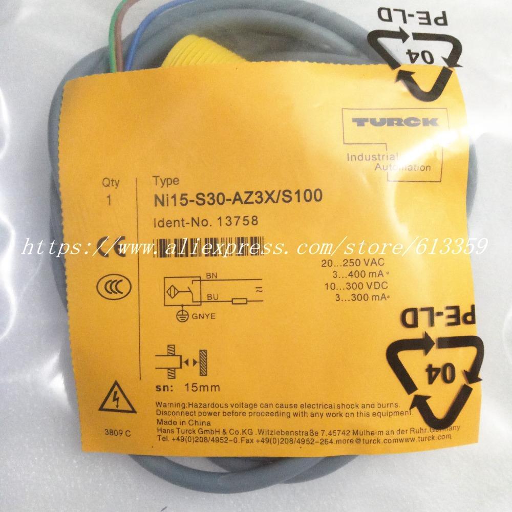 NI15-S30-AZ3X / S100 Sensor de Proximidade NI15-S30-RZ3X / S100 Turck Nova Resistência de Alta Temperatura de Alta Qualidade