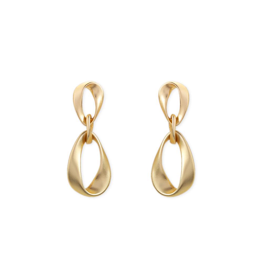 Europäische und amerikanische Mode Galvanisierungsmetall Textur Mädchen Schmuck Legierung geometrische Ohrringe