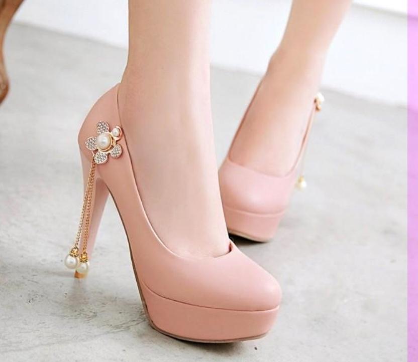 2020 весна и осень с новым стилем мода высокий каблук тонкий каблук круглая голова водонепроницаемый стол Женская обувь @MQWBH700