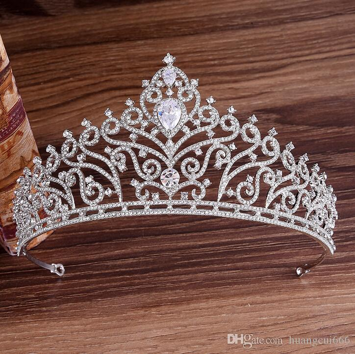 Best selling high-end inlaid rhinestone zircon bride crown wedding dress headdress princess birthday headband party dinner dress jewelry fre