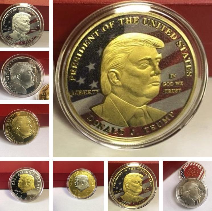 Artes moneda de la suerte triunfo monedas conmemorativas 2020 Presidente Trump Hierro monedas de regalo de metal presidente de Trump y Oficios 7010A