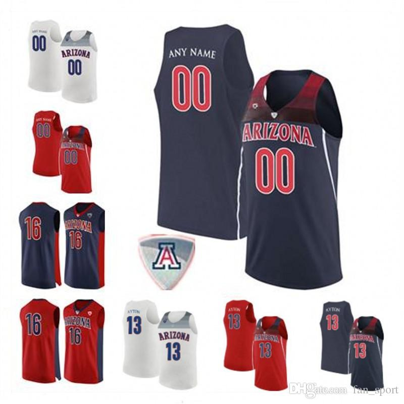2021 Custom Arizona Wildcats College Basketball Any Name Number ...
