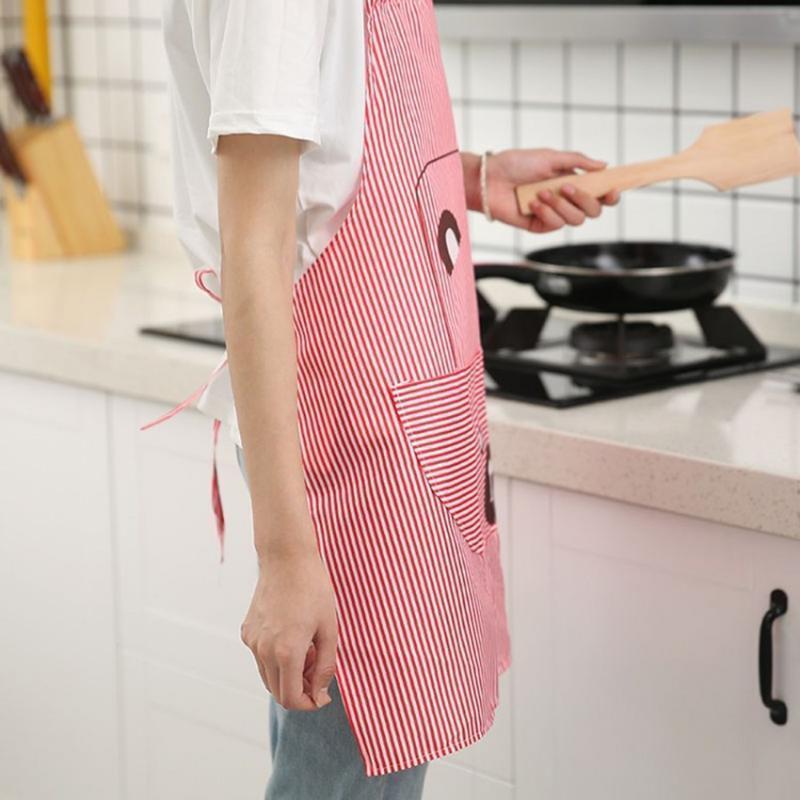 Bande Dessinée Cuisine Tablier De Cuisine Sans Manches Ménage Tabliers De Nettoyage Pour Adultes Femmes Lady Tissu Protéger Accessoires De Cuisine
