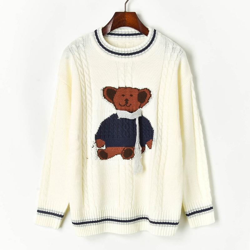 N14 2019 Осень Зима Белый Colorblock трикотажные пэчворк пуловеры свитер с длинным рукавом круглый вырез мода свитера X10G91028