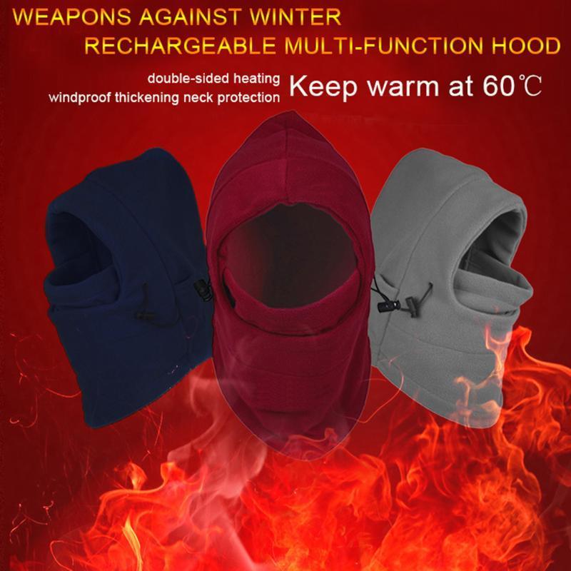 Обогрев шляпа зима ветрозащитный перезаряжаемые электрическое отопление капюшоном зимнее отопление теплый крышка штепсельной вилкой США/ЕС