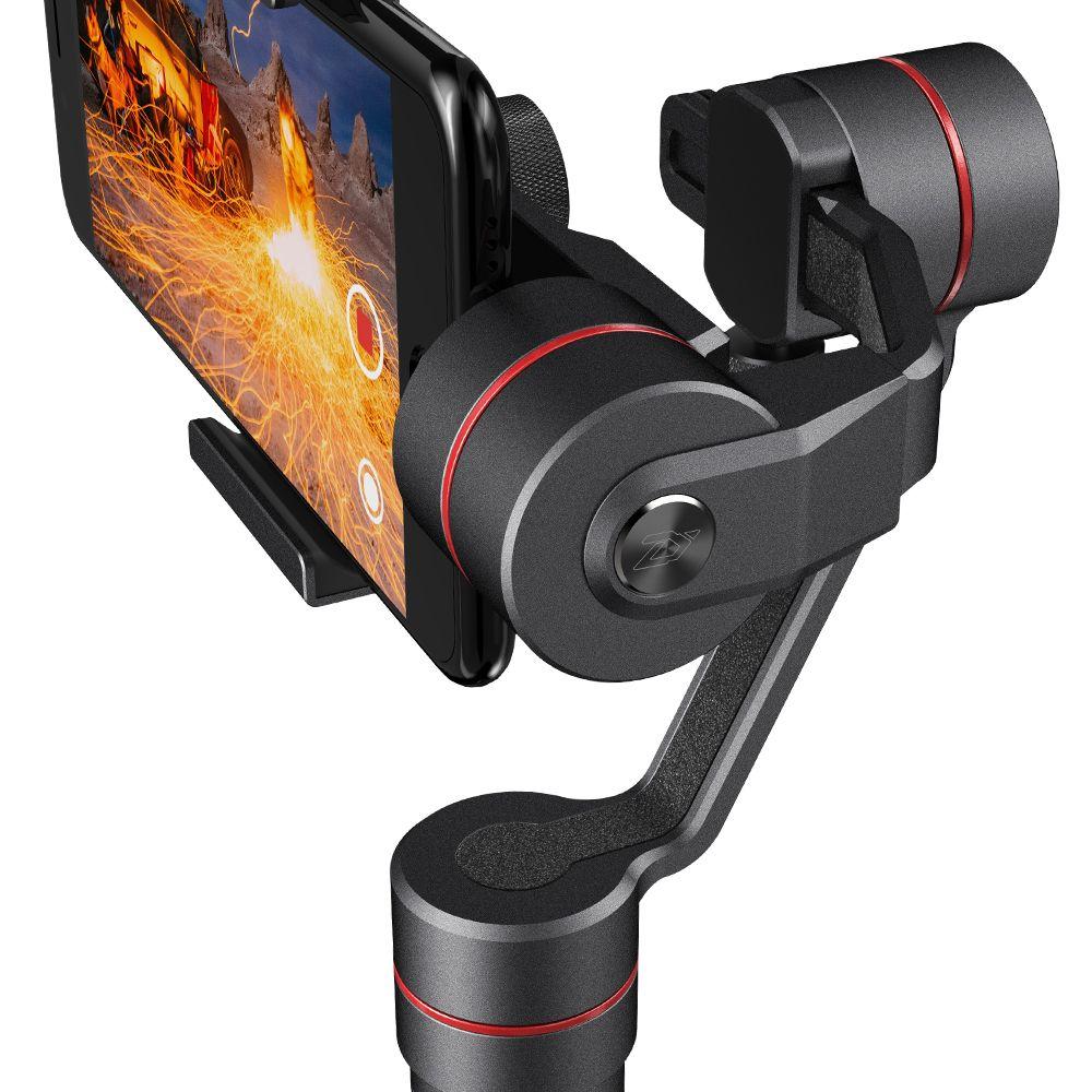 Freeshipping Smooth 3 Smartphone Handheld 3 Axis Gimbal Estabilizador Acción Cámara Selfie Teléfono Steadicam para iPhone Sumsung para GoPro