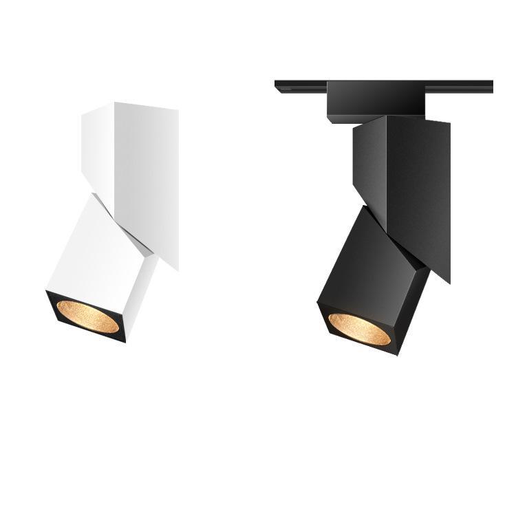 mais recente pista COB LED quadrado criativo luzes 5W 15W loja de roupas faixa de fundo luzes da trilha estilo nórdico luz de teto