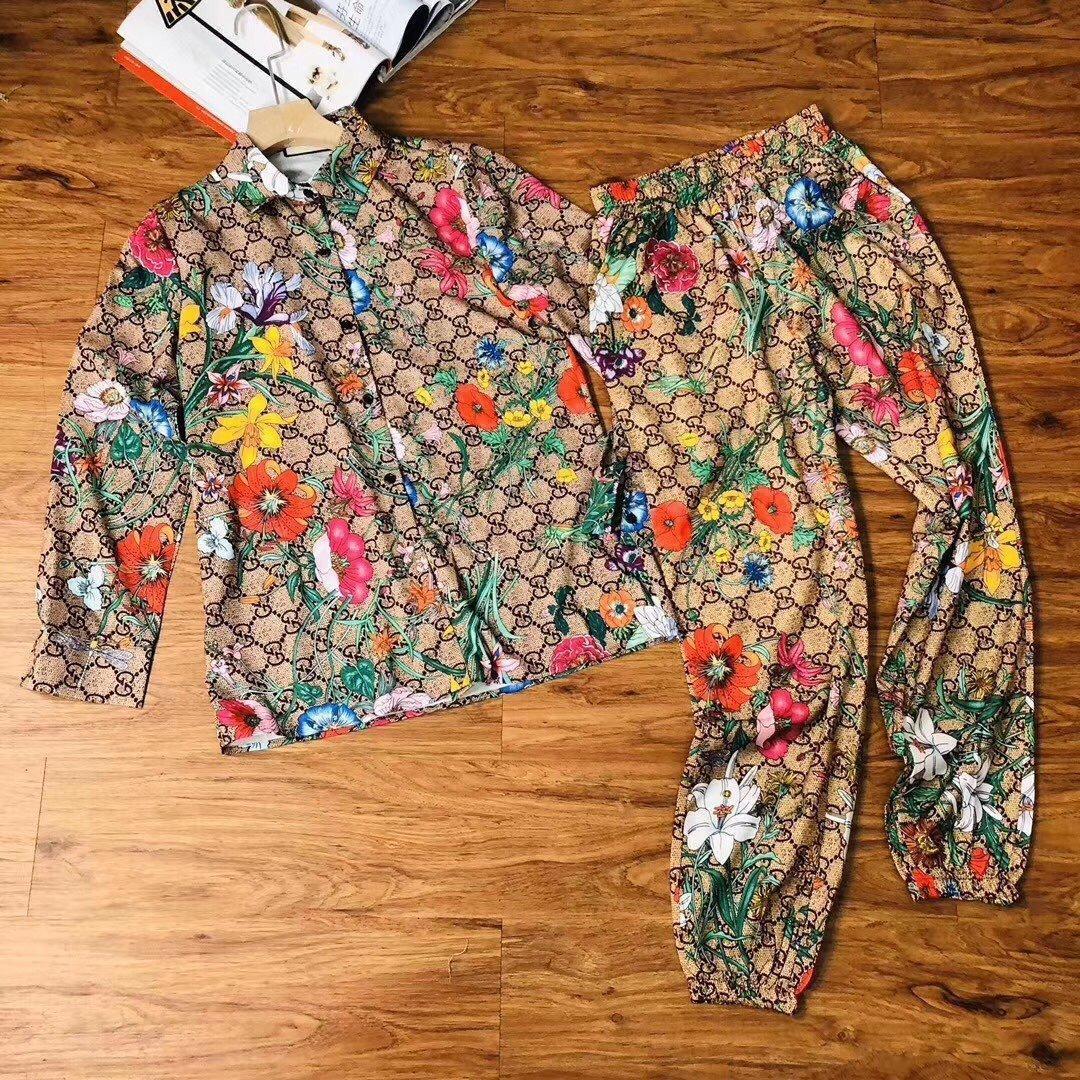 2020 yüksek kalite bayanlar pantolon setleri tops + pantolon 2 adet bahar ve yaz rahat setleri moda giyim 31DS