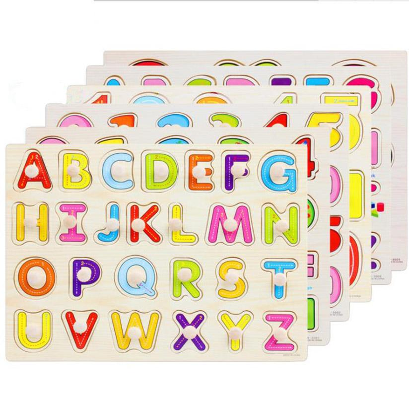 أطفال خشبية خشبية لعبة لغز المخابرات لغز خشبية ملونة الكرتون المخابرات لعبة تعليمية puzzl لغز الرضع
