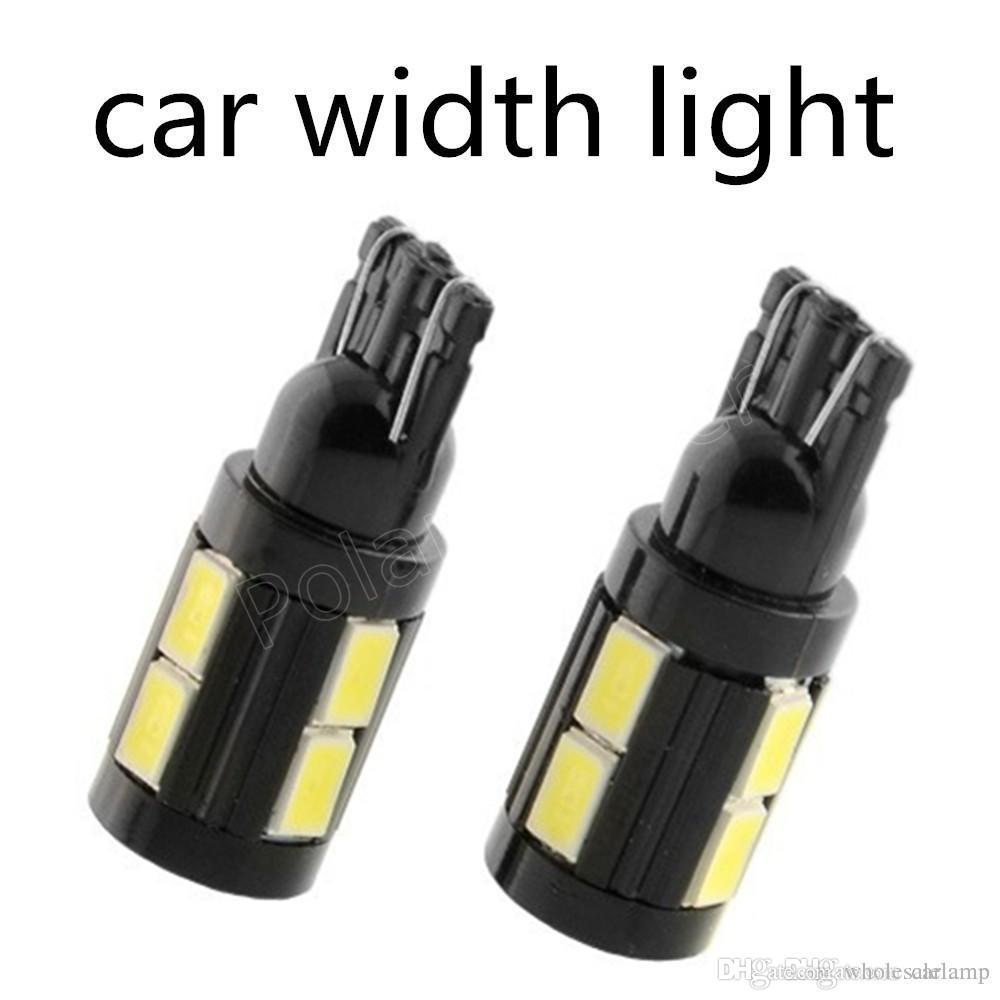 T10 5630 W5W 10SMD White High Power LED 192 194 168 For License Plate Lights, Side Door Courtesy Lights DC 12V