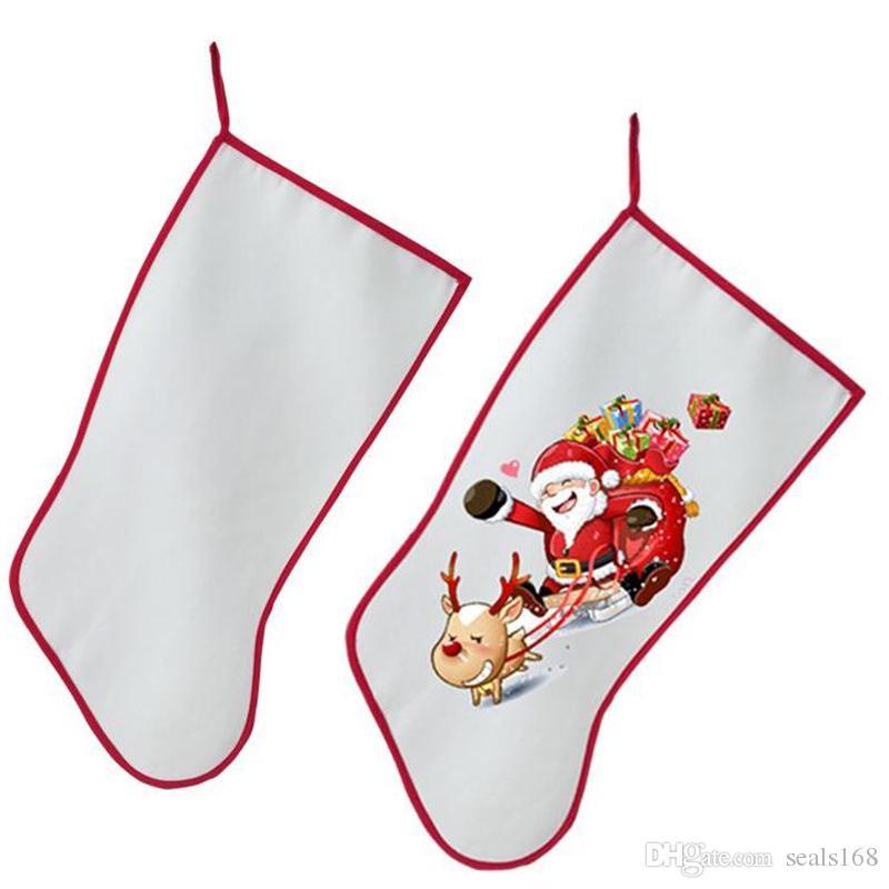 Noel Dekorasyon İçin Sublime Noel Çorap Çorap Kişiselleştirilmiş Boş DIY Özel Noel Sıcak Transferi Malzeme DHL HH9-2347 Malzemeleri