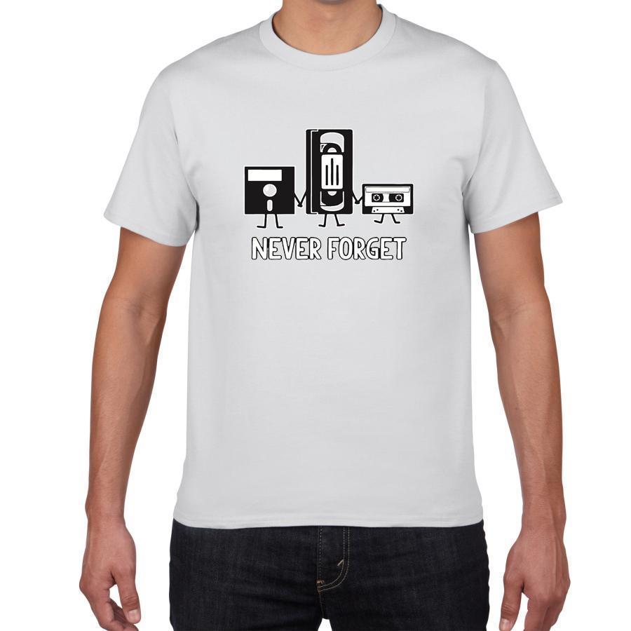 """Moda Nunca olvide la letra del algodón ocasional de la camisa sarcásticos de los hombres Música gráfico divertido de la novedad T impresa Men """"s camiseta camiseta de los hombres del homme"""