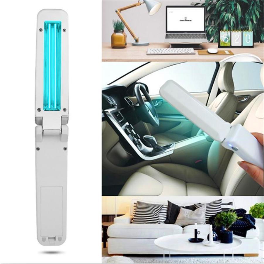 253.7nm UVC lights Ultraviolet Disinfection Lamp Handheld Mini Sanitizer Sterilization Travel Wand uv flashlight Household Toilet Car Pet