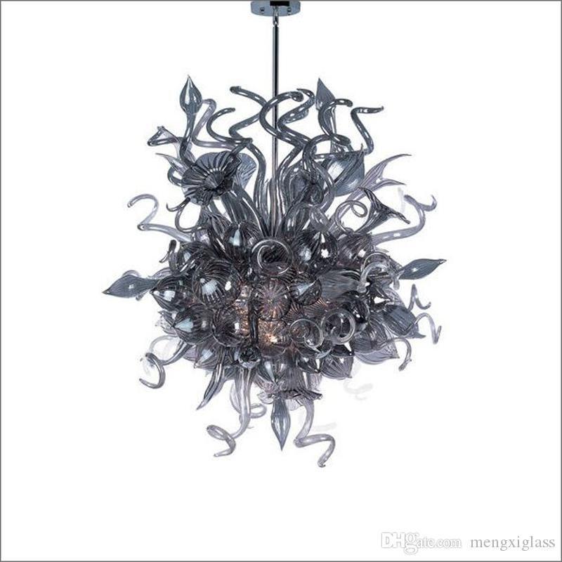 Aire libre envío Escalera de cristal soplado de alta iluminación de la lámpara de techo Mano decorativo Vidrio soplado araña de cristal