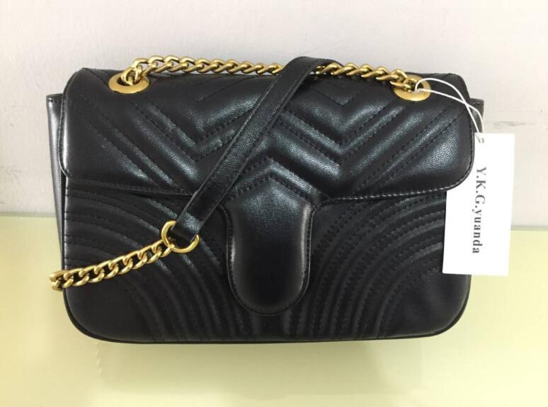 2020Marmont borse a spalla Donne Zig Zag striscia catena di Crossbody Bag Borse del progettista famoso Tracolla Donna sacchetto del messaggio G46655