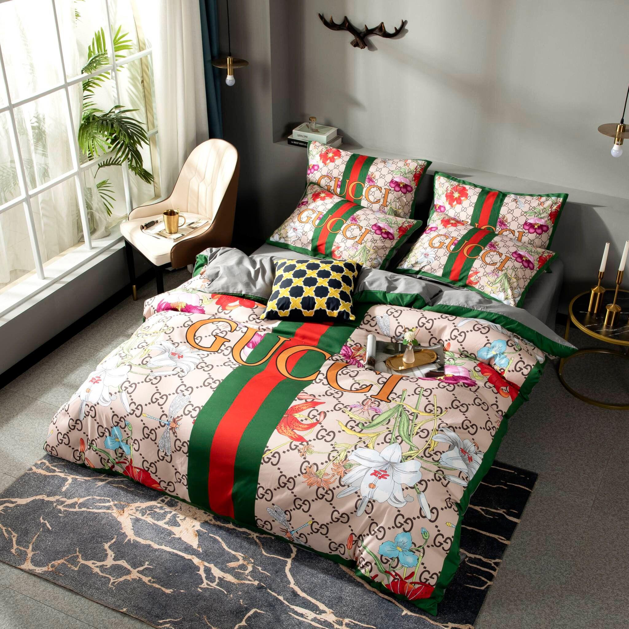 2020 G Luxury Bedding Sets Red And Green Designer Duvet Cover Set Cotton Designer Bed Sheets Queen Bed Sets Simple Designer Bedding Contemporary Bedding Cotton Duvet Covers From Designer Home 104 16 Dhgate Com