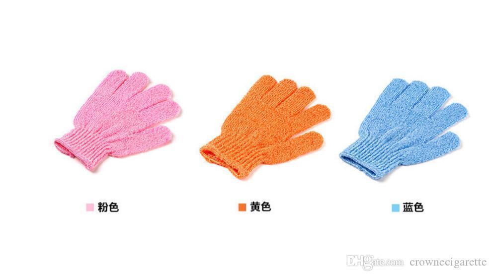 popular Shower Exfoliating Wash Skin Spa Foam Bath Glove Massage Loofah Scrubber Skin Body Wash Massage Scrub